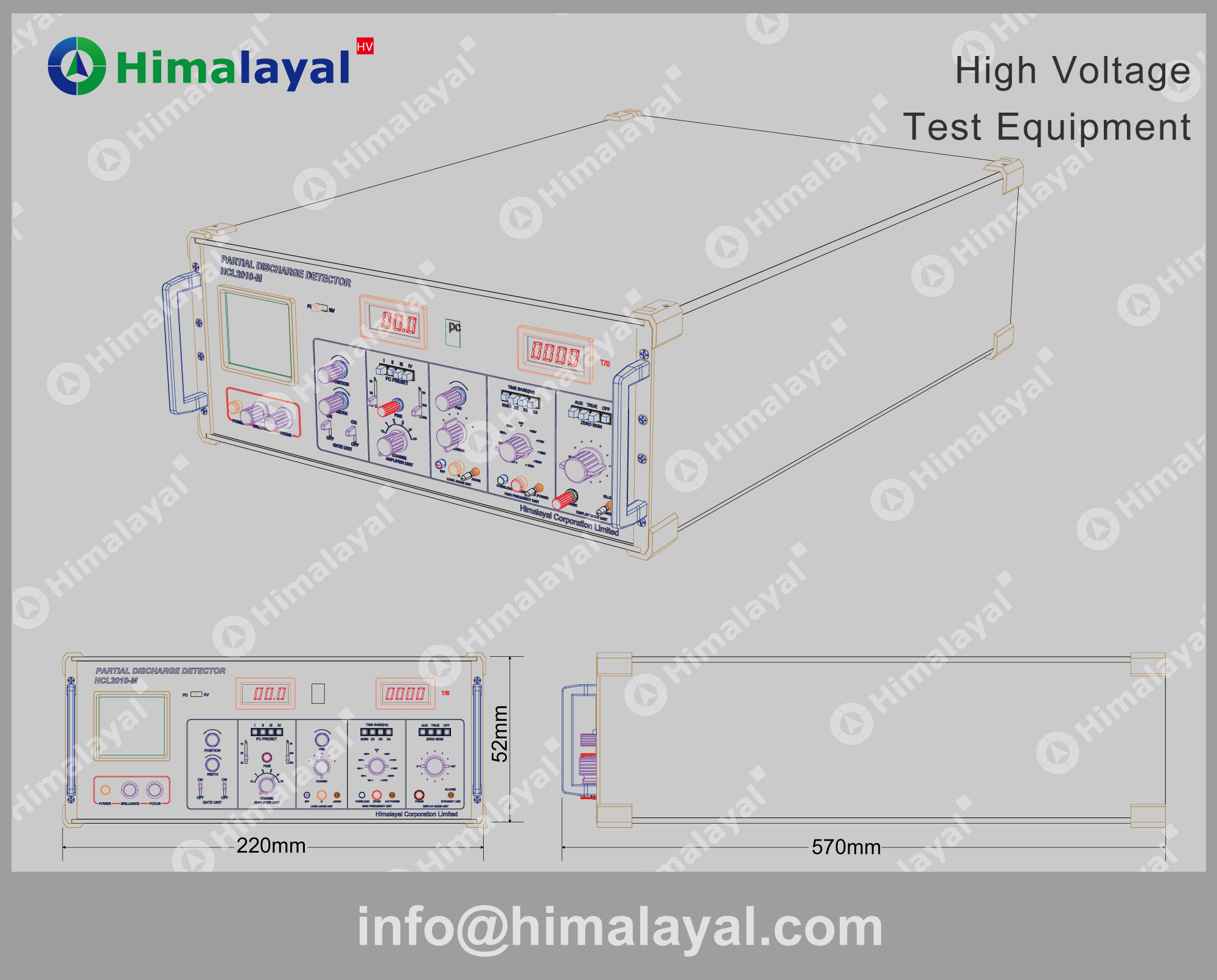 High Voltage Testing : Hcl m manual partial discharge tester pd