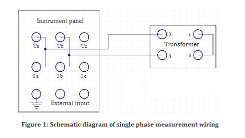 Schematic diagram of  single phase measurement wiring